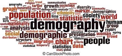Demography-horizon - Demography word cloud concept. Vector ...