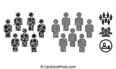 Demography Mosaic Icon of Tremulant Elements