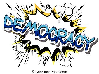 demokrácia, -, tréfás könyv, mód, phrase.