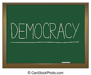 demokracie, concept.