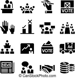 demokracja, wybór, głosowanie, ikona