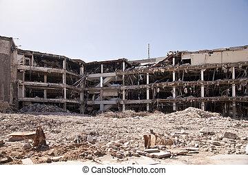 demolición, edificio