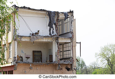 Demolished building.Unsharpened.