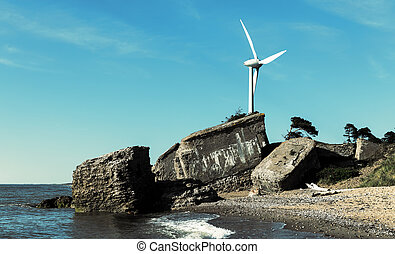 Wind turbine at Baltic coast