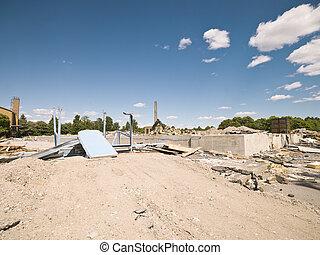 Demolished Neighbourhood on a sunny day
