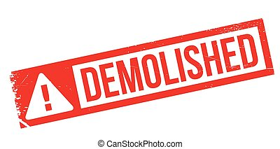 Demolished rubber stamp