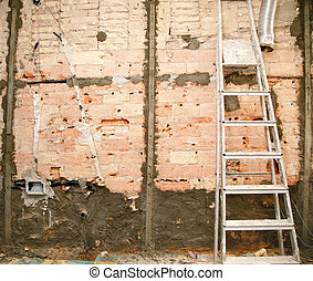demolition before tiling in kitchen interior works