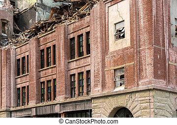 Demolition of Old Brick Building