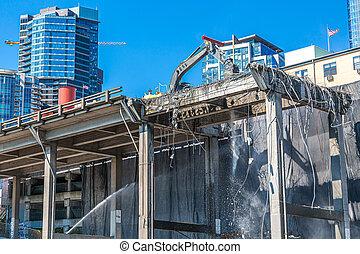 Demolition of Viaduct