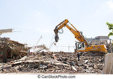 demolition - Demolition of an old building