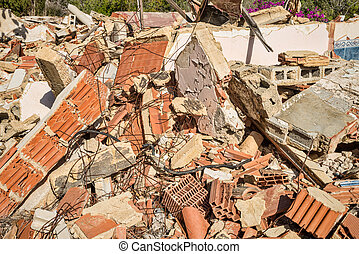 Demolition rubble