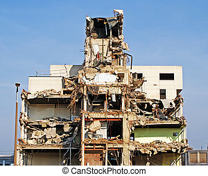 Demolition Site - Image of a building in the process of ...