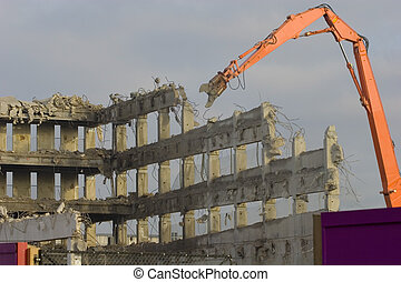 Demolition - The act or process of wrecking or destroying of...