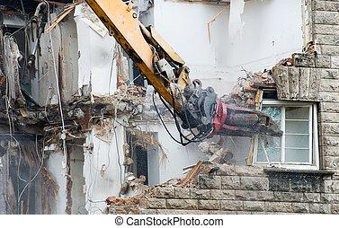 demolizione, scavatore