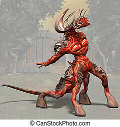 Demon #01 - Fantasy Series - Image contains a Clipping Path...