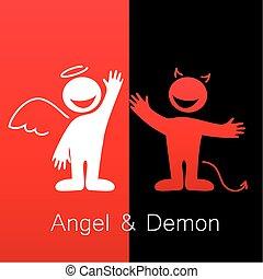 demon, anioł
