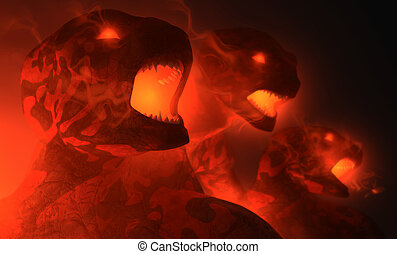 Demon - demons emerge from the depths enraged
