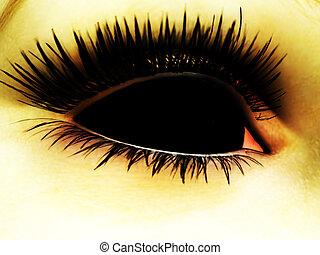 Demon Eye - Close up of a Demons evil eye.