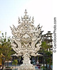 Demon face decoration, Wat Rong Khun at Chiang Rai, Thailand