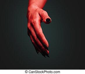 Demon handshake gesture
