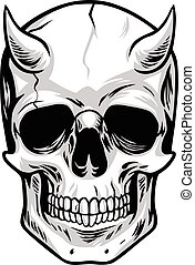 Demon Head Skull
