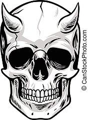 Demon Head Skull