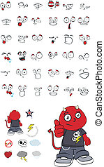 demon kid cartoon set1