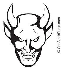 demon, twarz