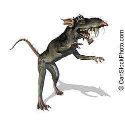 demonic, mutant, rat