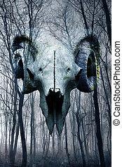 demonio, bosque
