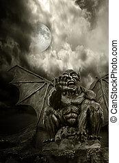 demonio, noche