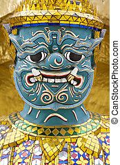 Thailand - Demons mythical creatures guarding the Golden...