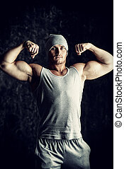 demonstrate arm muscles