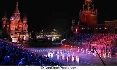 demonstratie, opvoering, cultureel, groep, shi-ho, van, shaanxi, van, china
