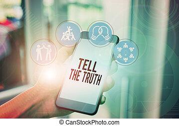 demonstratingal, concept, texte, dire, quelqu'un, hidden., mot, avouer, quelques-uns, garde, wants, écriture, fait, truth., business