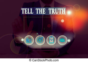demonstratingal, dire, écriture, truth., avouer, fait, quelqu'un, main, photo, quelques-uns, garde, hidden., conceptuel, showcasing, projection, business, wants