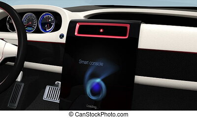 Demonstration of electric car UI - Demonstration of electric...