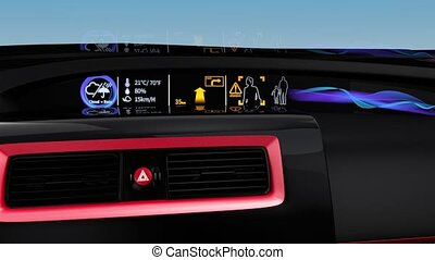 Demonstration of EV console - Demonstration of electric car...
