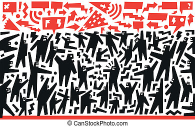 demonstration protest - demonstration - vector illustration ...