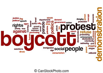 Demonstration word cloud concept with politics activism...