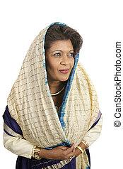 Demure Indian Woman - A beautiful, demure indian woman...