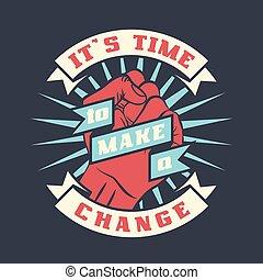 den, är, tid, till gör, a, ändring