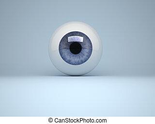 den, ögon