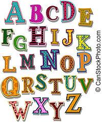 den, alfabet