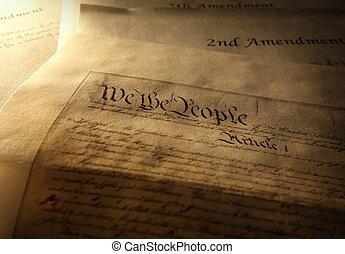 den, amerikansk. forfatning