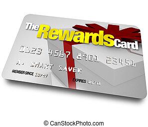 den, belønninger, kontokort, indtjene, refunds, og, rebates