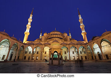den, berömd, sultan, ahmed, moské, (blue, mosque), in,...