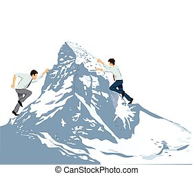 den Berg erklimmen.eps - Business Climbing summit Rise