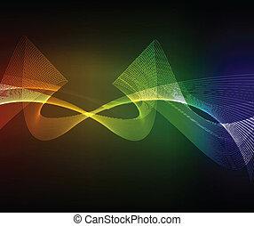 den, färgrik, abstrakt, bakgrund, eps, 10