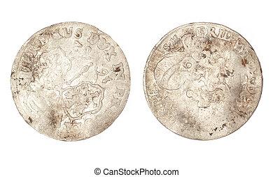 den, gammal, mynt, av, 1682